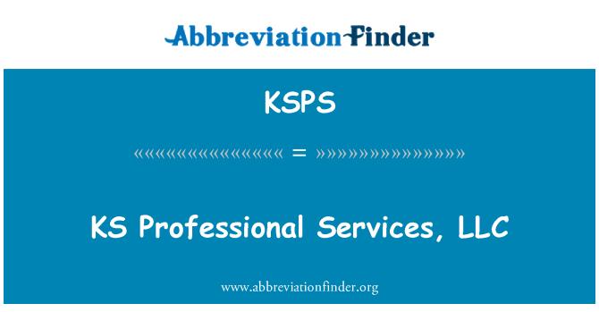 KSPS: KS profesyonel hizmetler, LLC