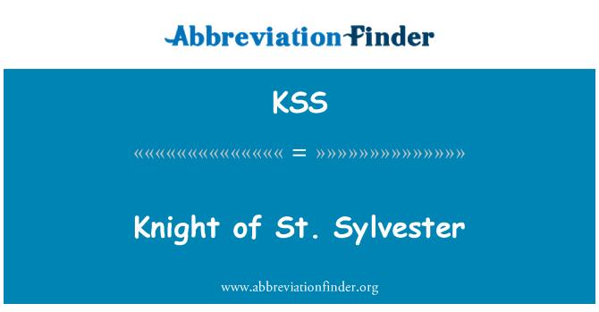 KSS: Knight of St. Sylvester