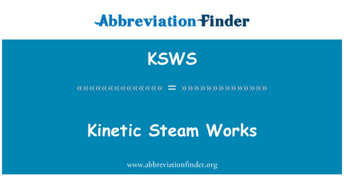 KSWS: Obras cinéticas de vapor