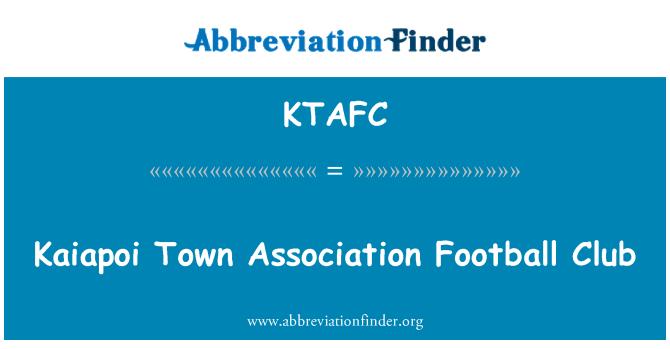 KTAFC: Kaiapoi Town Association Football Club