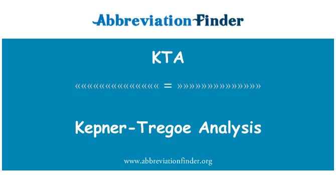 KTA: Kepner-Tregoe Analysis