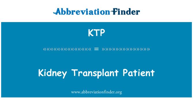 KTP: Kidney Transplant Patient