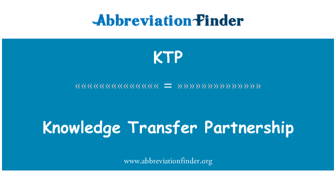 KTP: Knowledge Transfer Partnership