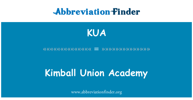 KUA: Kimball Union Academy