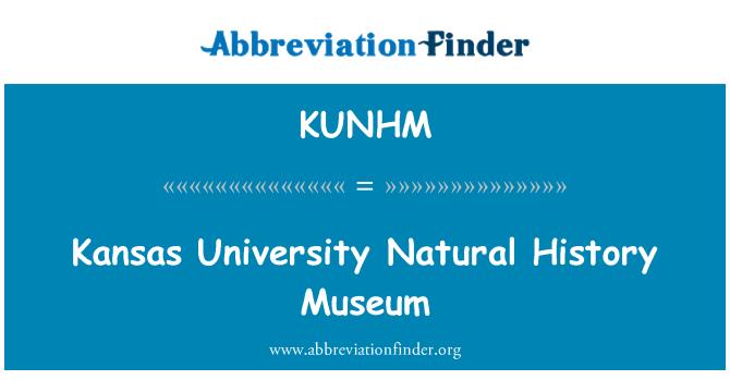 KUNHM: Kansas University Natural History Museum