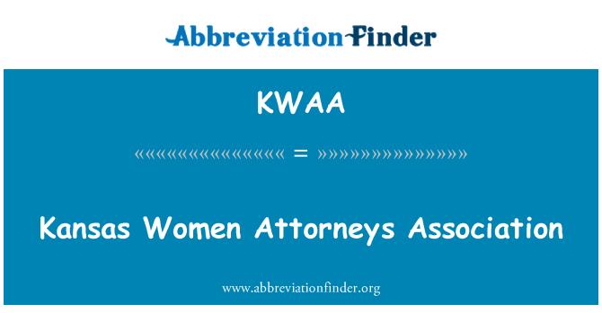 KWAA: Kansas Women Attorneys Association