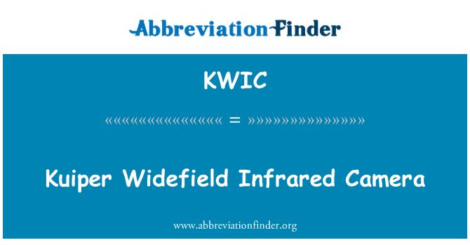 KWIC: Kuiper Widefield Infrared Camera