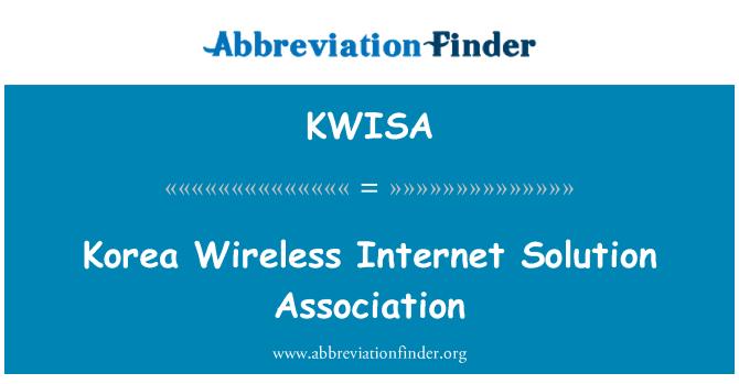 KWISA: Korea Wireless Internet Solution Association