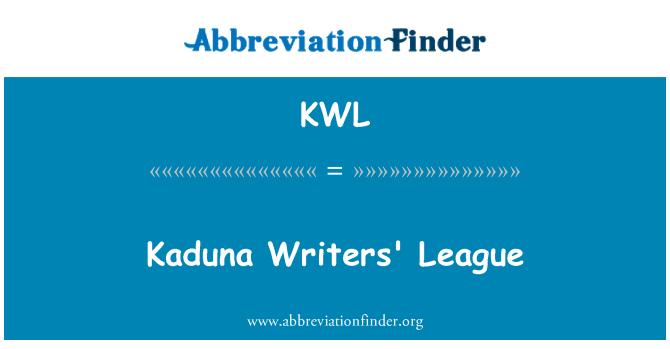 KWL: Kaduna Writers' League