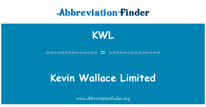 KWL: Kevin Wallace Limited