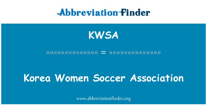 KWSA: Korea Women Soccer Association