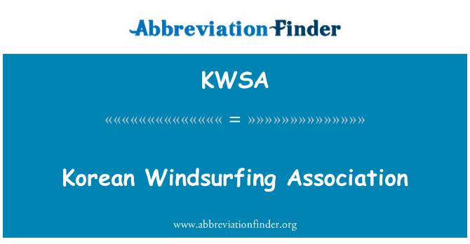 KWSA: Korean Windsurfing Association