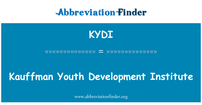 KYDI: Kauffman Youth Development Institute