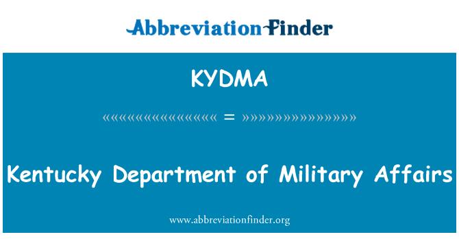 KYDMA: Kentucky oddělení vojenské záležitosti