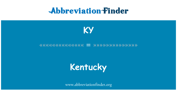 KY: Kentucky