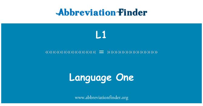 L1: Dil bir