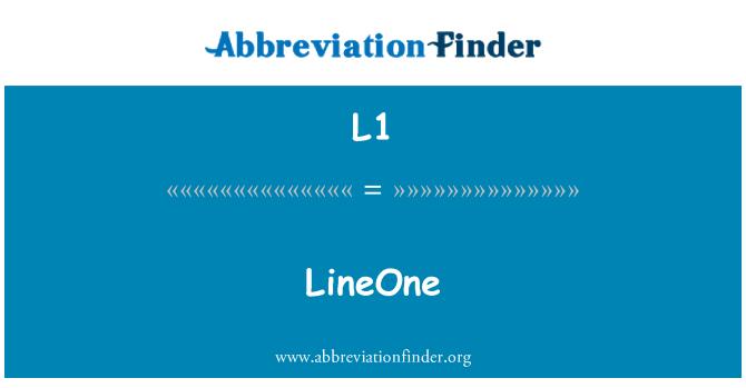 L1: LineOne