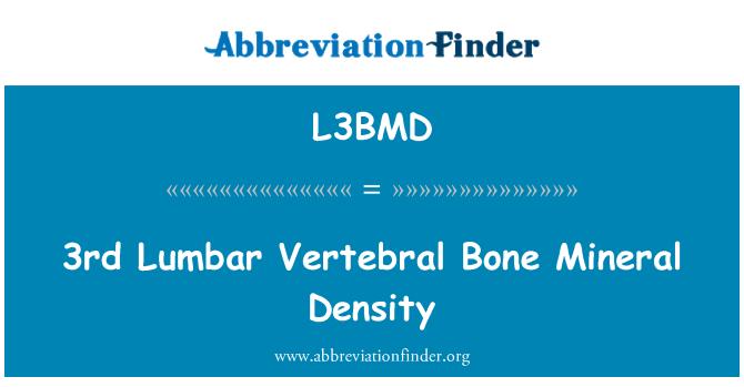 L3BMD: 3rd Lumbar Vertebral Bone Mineral Density
