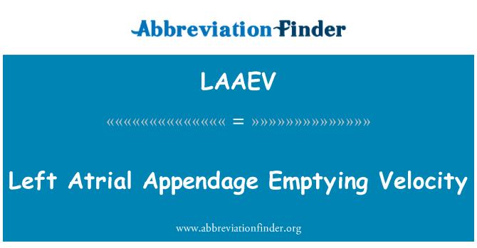 LAAEV: Left Atrial Appendage Emptying Velocity