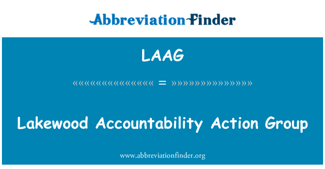 LAAG: Lakewood Accountability Action Group