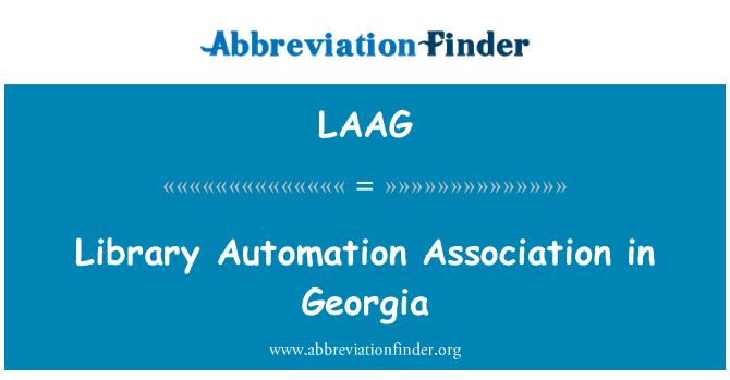 LAAG: جارجیا میں لائبریری آٹومیشن ایسوسی ایشن