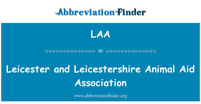 LAA: Leicester and Leicestershire Animal Aid Association