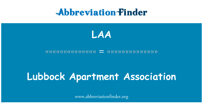 LAA: Lubbock Apartment Association
