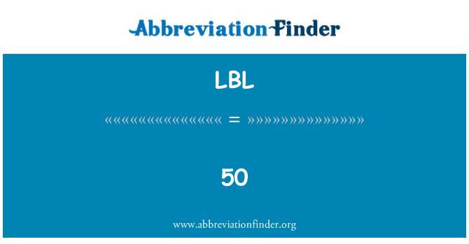 LBL: 50