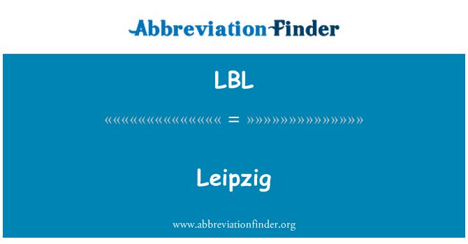 LBL: 莱比锡