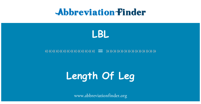 LBL: 腿的长度