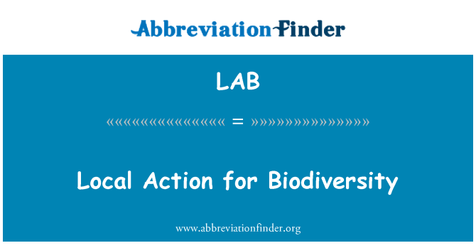 LAB: Local Action for Biodiversity