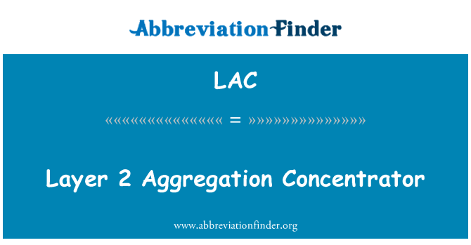 LAC: Layer 2 Aggregation Concentrator