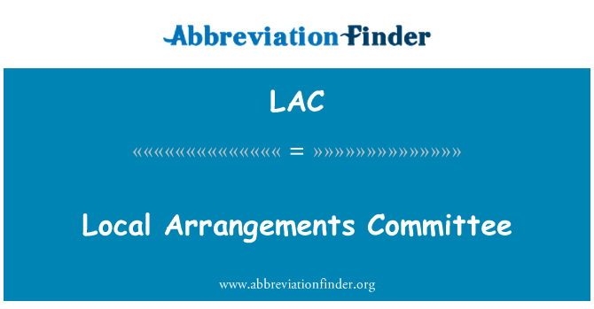 LAC: Local Arrangements Committee