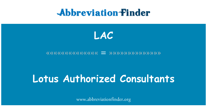 LAC: Lotus Authorized Consultants
