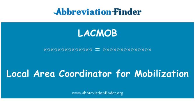LACMOB: Lokalna koordinatorica za mobilizaciju