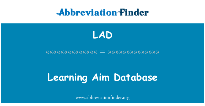 LAD: Learning Aim Database