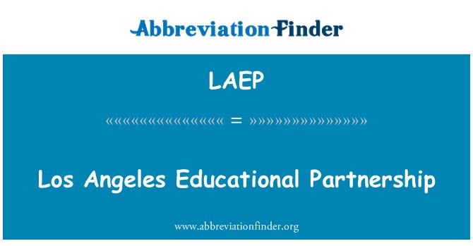 LAEP: Los Angeles Educational Partnership