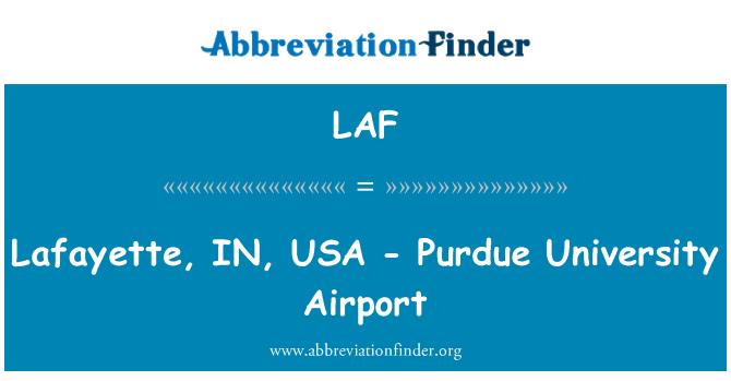 LAF: Lafayette, IN, USA - Purdue University Airport