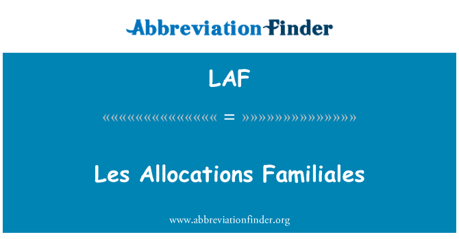 LAF: Les Allocations Familiales