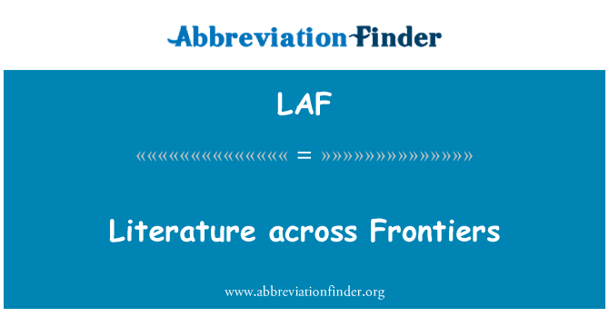 LAF: Literature across Frontiers