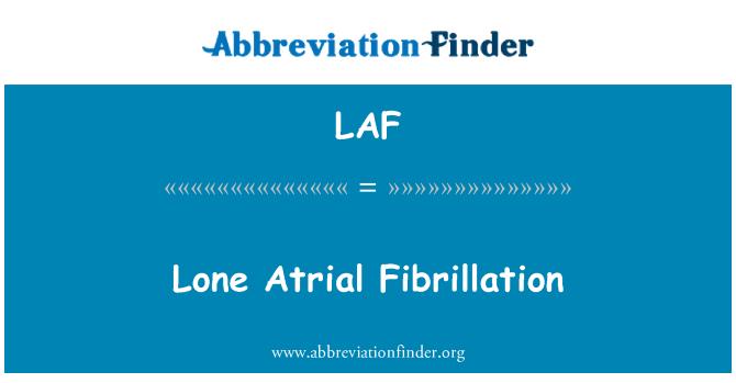 LAF: Lone Atrial Fibrillation