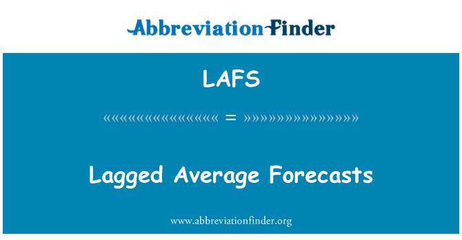 LAFS: Previsiones medias retardadas
