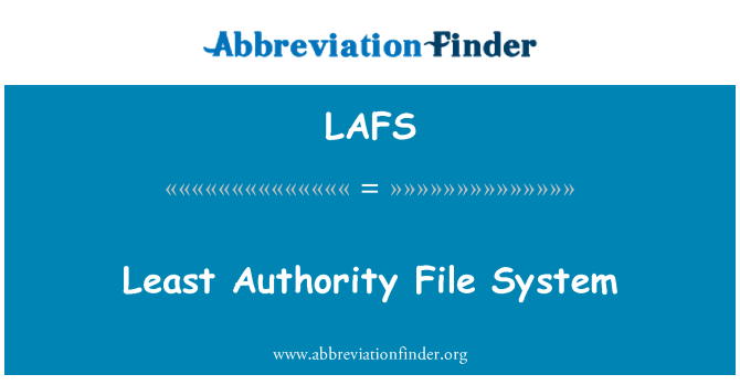 LAFS: Least Authority File System