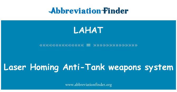 LAHAT: Laser Homing Anti-Tank weapons system