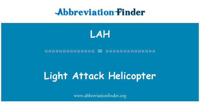 LAH: Light Attack Helicopter