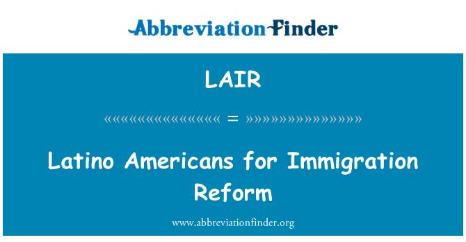 LAIR: Latino ameeriklased sisserände Reform
