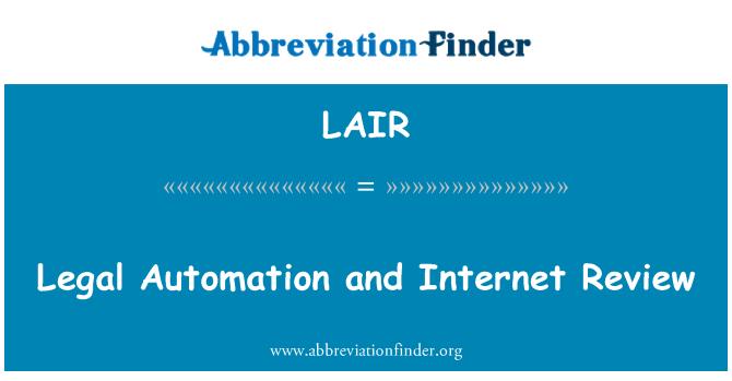 LAIR: Kajian Internet dan automasi undang-undang