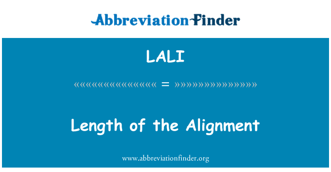 LALI: Length of the Alignment