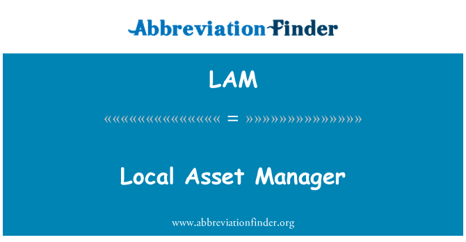 LAM: Local Asset Manager