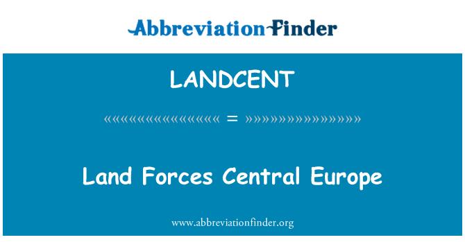 LANDCENT: Orta Avrupa Kara Kuvvetleri